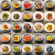 piatti di pasta collage