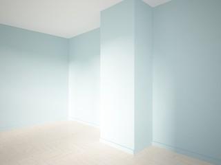 blue empty interior