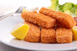 fish fingers with garnish