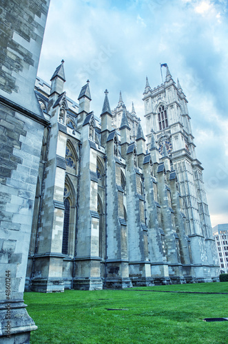 The Westminster Abbey church in London, UK - Side view