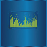Vector background with spectrum analyzer