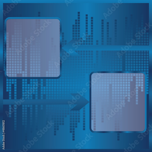 Vector blue modern abstract brochure design with arrow