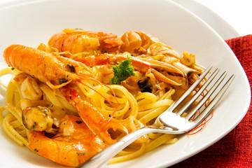 Spaghetti e scampi