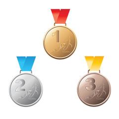 Vector triathlon Medal awards