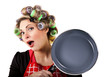 Pinup housewife portrait with pan