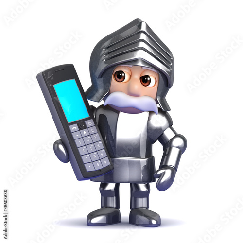 Knight has a mobile phone conversation