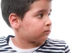 Child with skin rash poster