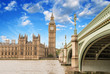 Landscape of Big Ben and Palace of Westminster with Bridge and T
