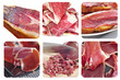 spanish ham collage
