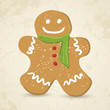 Doodle Gingerbread man vector illustration