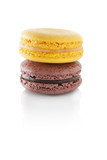 Colorful macaroons isolated