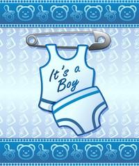 Baby Shower it's a Boy-Annuncio Nascita Maschio Bambino
