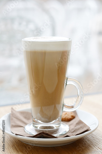 Latte in high glass