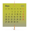 Calendar for May 2013 in Spanish