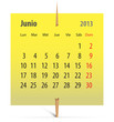 Calendar for June 2013 in Spanish
