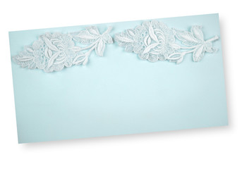 Paper with lacy border