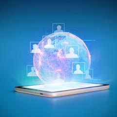 Social Network Cloud Tablet PC LTE
