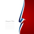 French right side brochure cover vector