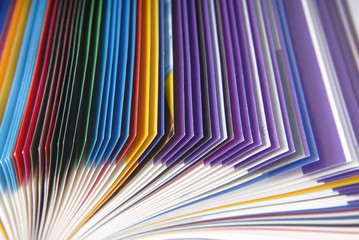magazine paper texture macro