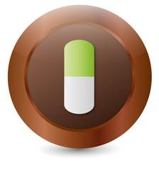 Vektor Button Kapseln Medikamente
