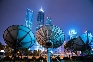 antenna in modern city