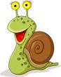 Smiling snail cartoon