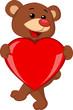 Bear with love heart