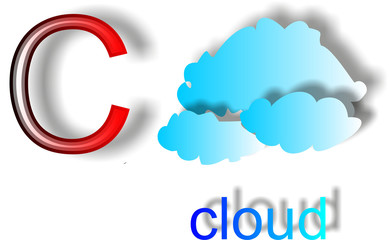 The letter C  cloud