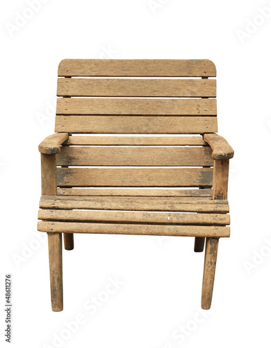 Vintage wooden armchair isolated on white background