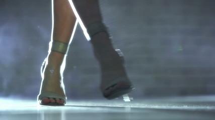 Young woman walking.