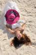 asian bride on beach