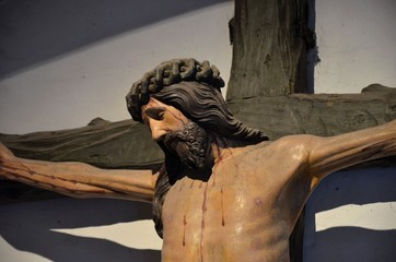 Christ crucified on cross in church: Cologne, Germany