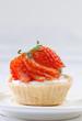 Strawberry cupcake freshness from the homemade bakery store
