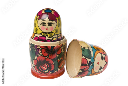 Russian Babushka or Matryoshka Dolls, clipping path included.