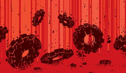 Crumbling gears