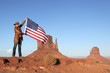 USA flag at Monument Valley