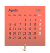Calendar for August 2013 in Spanish