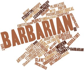 Word cloud for Barbarian