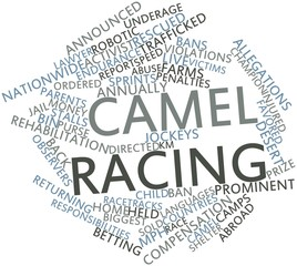 Word cloud for Camel racing
