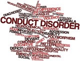 Word cloud for Conduct disorder poster