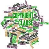 Word cloud for Copyright Clause