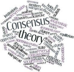 Word cloud for Consensus theory