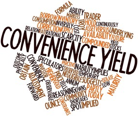 Word cloud for Convenience yield