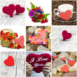 Mother's Day - flowers and hearts for mom