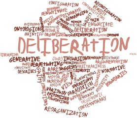 Word cloud for Deliberation
