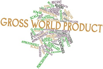 Word cloud for Gross world product