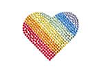 Rainbow heart made of Rhinestones poster