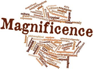 Word cloud for Magnificence