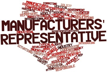 Word cloud for Manufacturers' representative