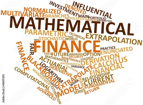 Word cloud for Mathematical finance